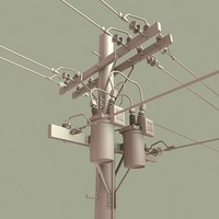 3d model telephone pole
