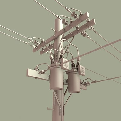 3d model telephone pole