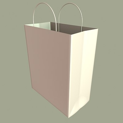 paper shopping bag 3d max