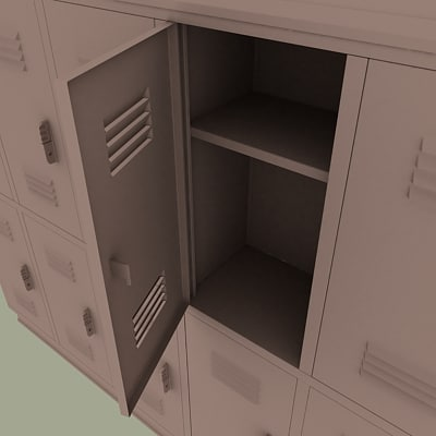 3d model school locker
