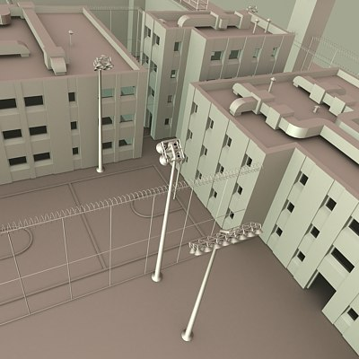 set buildings 3d model