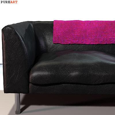 3d upholstered sofa model