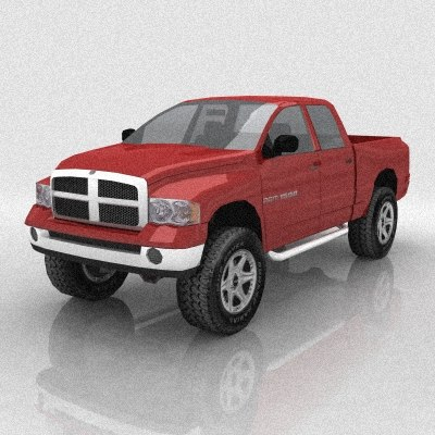 3d dodge ram 1500 pickup truck model