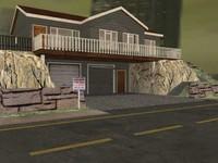 3d log home model