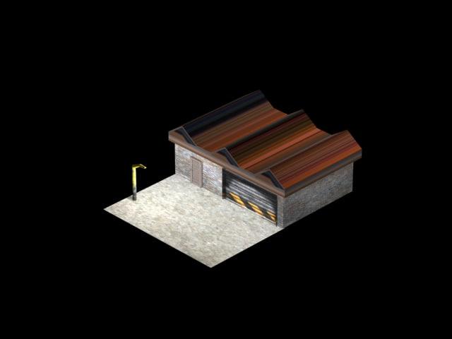 free x model warehouse scene