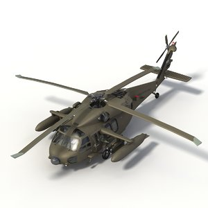 mh60a blackhawk 3d model
