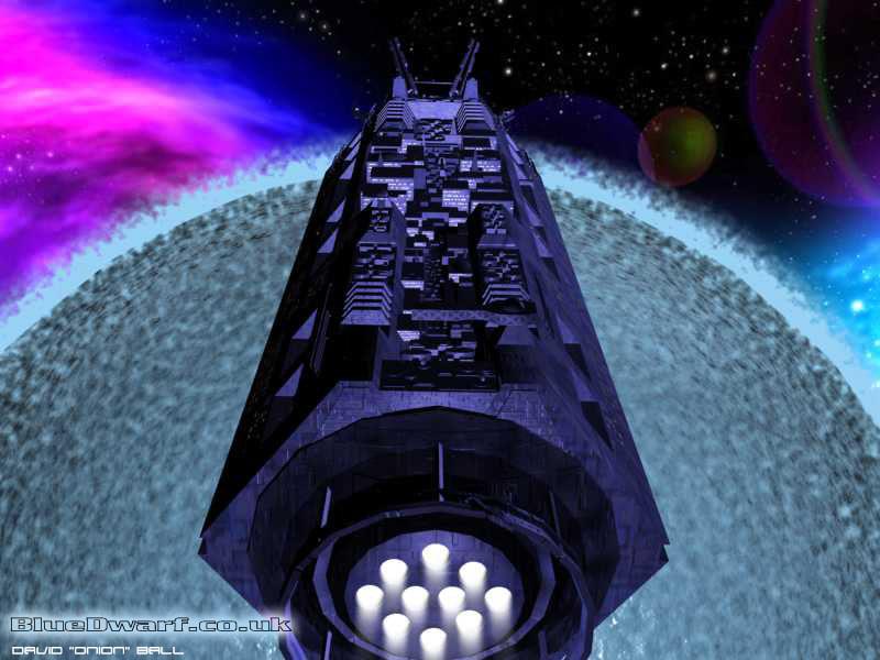 mining ship dwarf blue 3d max