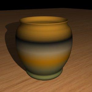 3d vase pottery model