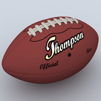 3d football pigskin s