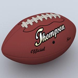 3d football pigskin s