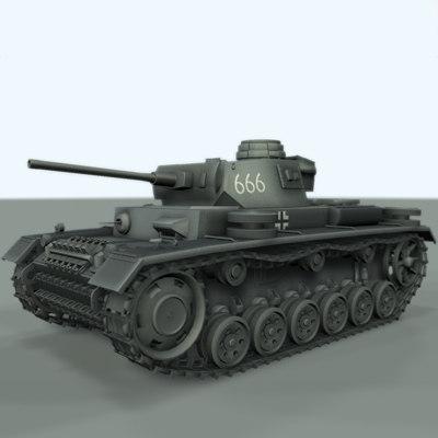 panzer iii 3d obj