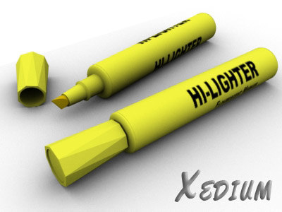 highlighter marker 3d model