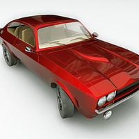 3d coupe car classic