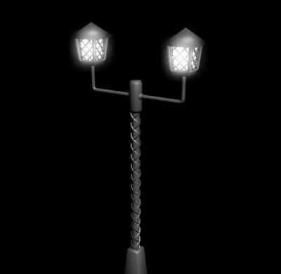 3ds max street light