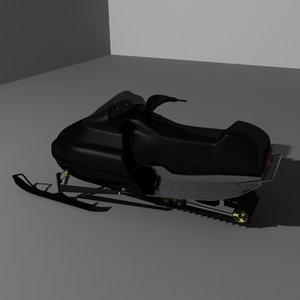 ski mobile 3d model