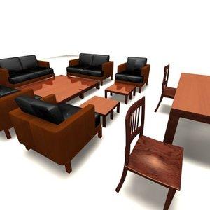 interior leather sofa 3d max