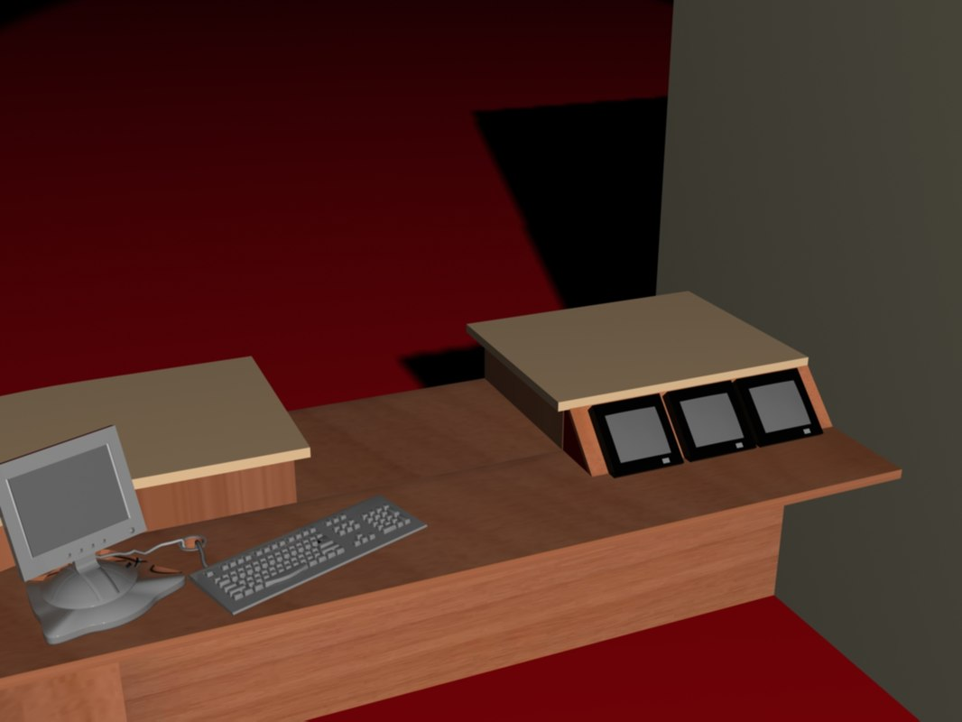 3ds max reception desk