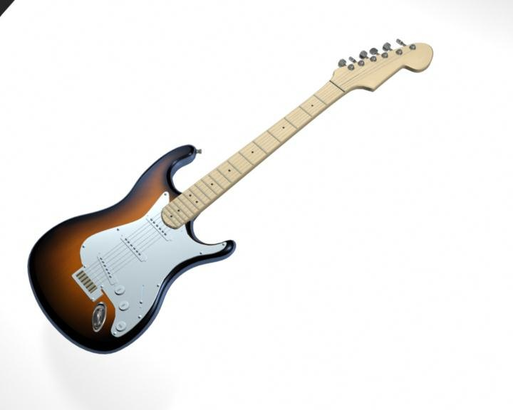 maya electric guitar