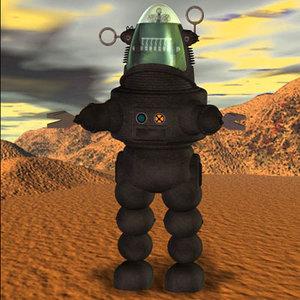 poser robby robot poser