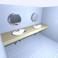 3d model washroom sinks