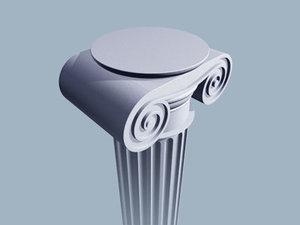 greek column 3d max