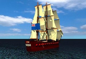 cinema4d sailed guns ship