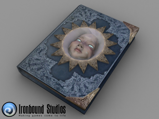 3d book real-time model
