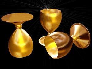 cup gold 3d model