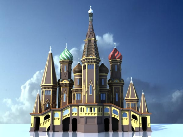 saint basil cathedral 3d model