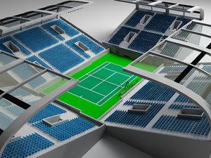 3d max tennis stadium