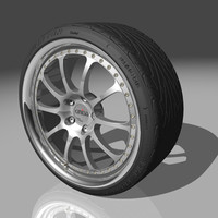 kinesis k19r wheel tires 3d model