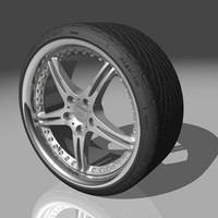 3d ssr gt3 wheel michelin model