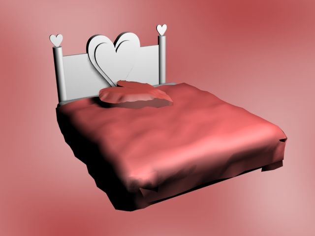 3ds bed heart