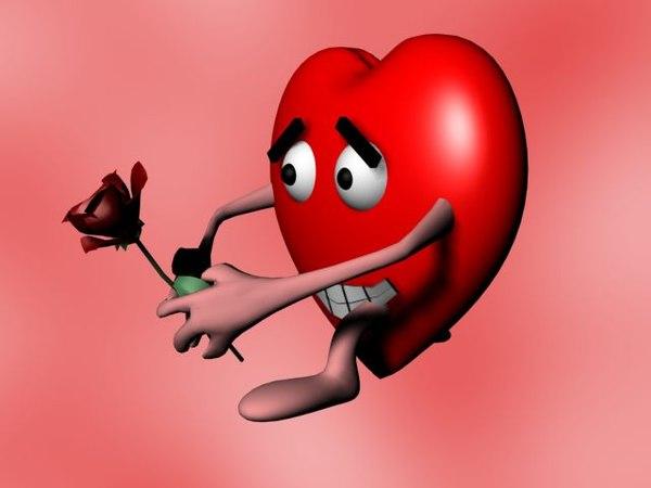 heart character 3d model