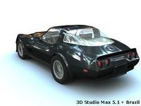 corvette 82 1982 3d model