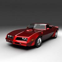 77 firebird 3d model