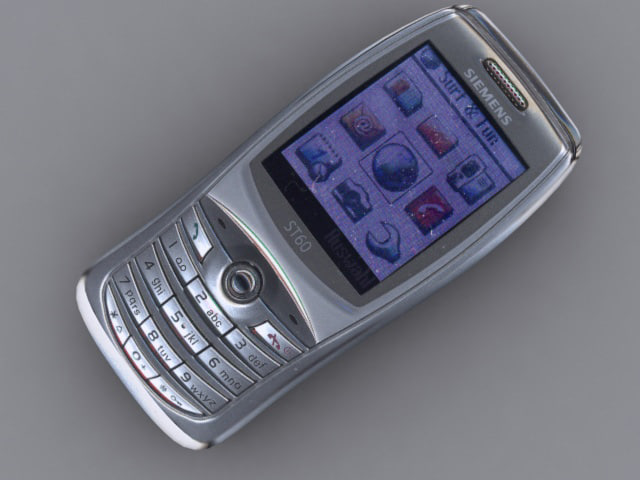 3d siemens st60 mobile phone
