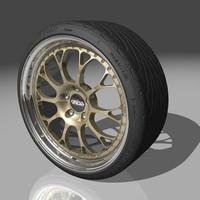 kinesis k29 wheel tires 3d model