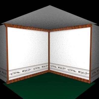 mouldings wallpaper 3d c4d