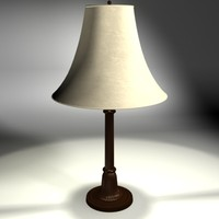 Table lamp with leather shade