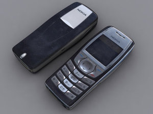 nokia 6610 mobile phone 3d model