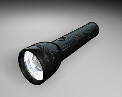 flashlight light flash 3d obj