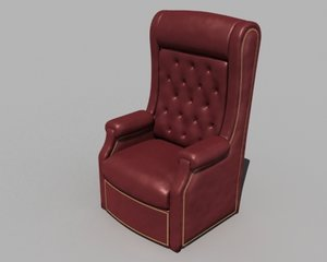 3d model la-z-boy el presidente lounger