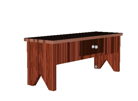 3d stripe bench model