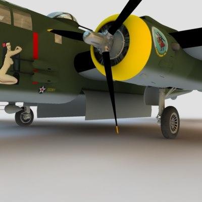 3d b25 mitchell bomber