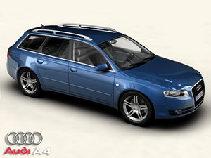 audi a4 avant 3 car 3d model