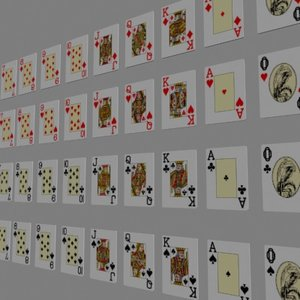 3d casino playing cards