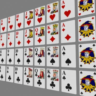 casino playing cards 3d model