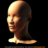 3d asian female head