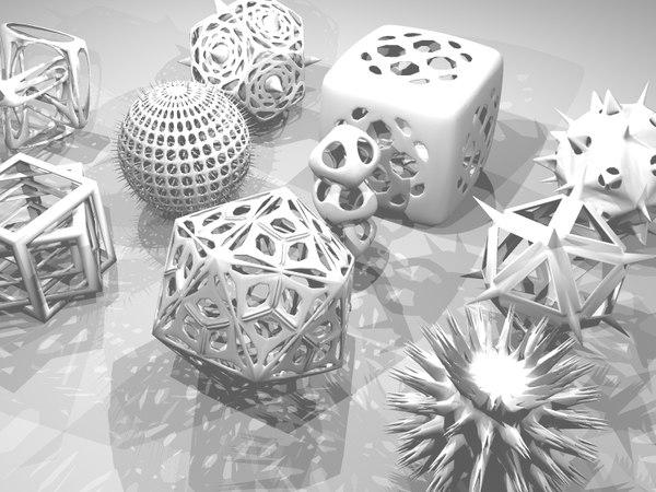 3d shapes model